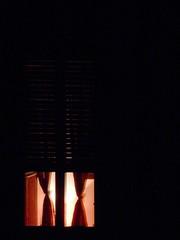 Visione notturna (magellano) Tags: window night curtain finestra persiana nighttime shutter notte tenda notturno