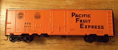 Finished PFE Reefer Car. (atjoe1972) Tags: railroad scale train diy model paint decal ho custom 187 reefer pfe 40ft pacificfruitexpress accurail plugdoor atjoe1972