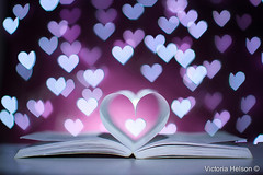 Heart & Bokeh (Victoria Helson photography) Tags: love colors canon book dof heart bokeh dream poetic magical