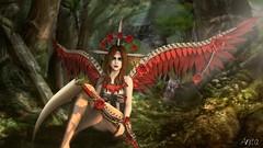 Muerte (Anita Armendaiz) Tags: life shadow red garden wings mesh head fantasy second gacha maitreya astralia applier argrace ysys lelutka