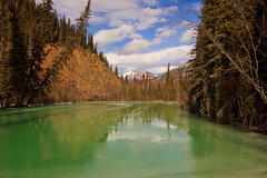 Where is the Snow? (blkwolf1017) Tags: blue green ice alaska warm skies sigma1224mm climatechange interioralaska overflowwater canon50d