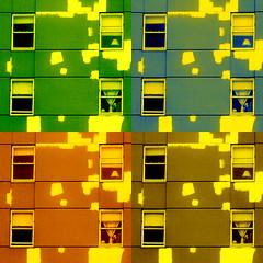 pre-paint patchwork (msdonnalee) Tags: explore fx apartmentbuilding digitalenhancement magicunicornverybest