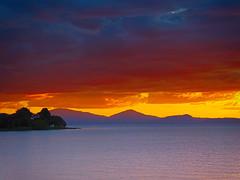 Lake Taupo (/\ltus) Tags: sunset newzealand lake lumix panasonic nz ruapehu laketaupo godzone nothdr dmczs50