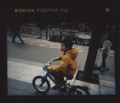 insta082 (sudoTakeshi) Tags: film bicycle japan kids children tokyo kodak akihabara konica contactsheet filmcamera akiba portra kickboard  kodakfilm   contactprint kodakportra konicabigmini   kodakportra160     konicabm301