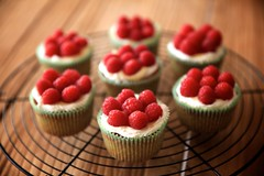 coolin' cupcakes (peet-astn) Tags: cakes cake cupcakes dof homemade cupcake raspberries