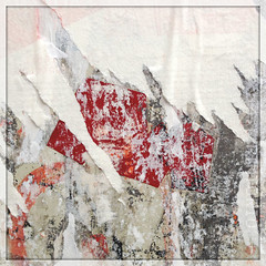 red square (piktorio) Tags: street red wallpaper berlin germany paper decay ripped torn remnants fragments decollage lacerated piktorio