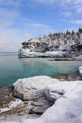 Bruce Peninsula National Park (Note-ables by Lynn) Tags: landscape coast outdoor georgianbay shore nationalparks winterlandscape brucepeninsulanationalpark naturalresources brucecounty