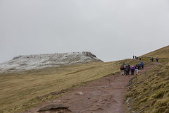 The climb to Pen y Fan (Dai Lygad) Tags: people mountain snow wales walking outside outdoors photo nationalpark flickr image path picture breconbeacons summit april walkers penyfan powys 2016