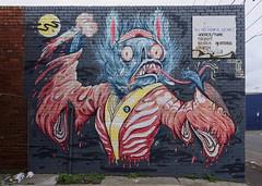 Vampire bat (J-C-M) Tags: street streetart art wall painting graffiti artwork paint grafitti collingwood australia melbourne wallart victoria meetingofstyles spencerkeetoncunningham