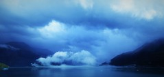 Blue Mist (sirenscotland) Tags: ocean blue winter sea cloud mist mountains cold nature water berg fog alaska heaven forrest deep peak fjord iceberg