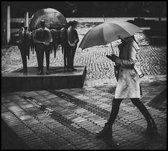 rainy day (Lukas_R.) Tags: street leica travel bw rain umbrella walk 28mm q nrnberg f17 typ116