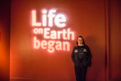 life on earth began. april 2015 (timp37) Tags: life chicago field sign museum illinois earth nat nathalie april 2015 began