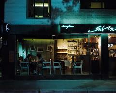 *' (june1777) Tags: street light night cafe pentax kodak snap seoul portra 800 67 105mm f24 samcheongdong bukchon wlindow