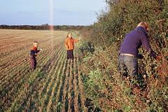 Picking Blackberries (first frame light leak) (Simon_Bates) Tags: leica family ireland people film kids rural 35mm fuji outdoor firstframe slide lightleak velvia m6 blackberries stubble 2010 berrypicking simonbates