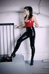 Femdom (marlettetv) Tags: latex femdom slave wipping misstress