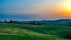 Val d'Orcia (RolandBrunnPhoto) Tags: italien sunset sky italy plants house field clouds nikon europa europe sonnenuntergang pflanzen feld himmel wolken haus valley tuscany gebude tal toskana d7000