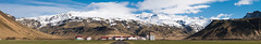 Panoramic view of Eyjafjallajokull (Goldsaint) Tags: travel sky panorama cloud mountain nature field landscape volcano is iceland scenery view natural farm background south scenic sunny volcanic icelandic eyjafjallajkull eyjafjallajokull