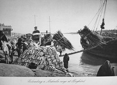Unloading a Muhaila, Baghdad (Terterian - A million+ views, thanks.) Tags: vintage photography book boat photos brothers photographic cargo views baghdad times plates collectible trade rare tigris abdul 1925 studies kerim basra irag basrah bygone hasso cemera muhaila