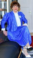 Birgit021821 (Birgit Bach) Tags: shiny skirt blouse suit satin pleated ruffled kostm glnzend faltenrock rschenbluse
