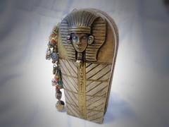 DSCN3318 (LynzCraftz) Tags: halloween mixedmedia polymerclay egyptian mummy scarab pharoh sarcophogus