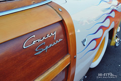 Country Squire Custom (Hi-Fi Fotos) Tags: wood ford vintage wagon nikon classiccar antique flames country retro chrome american badge hotrod custom squire kustom d5000 hallewell hififotos