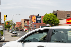 Red Bull Music Academy (Always Hand Paint) Tags: nyc music brooklyn advertising mural outdoor ooh handpaint redbull colossal bedstuy madlib cpg rbma redbul redbullmusicacademy colossalmedia muraladvertising b156 skyhighmurals alwayshandpaint kristalindahl rbmacomplete