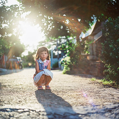 Alyzza (rifqi dahlgren) Tags: portrait cute film girl analog mediumformat indonesia serious flare 80mm balikpapan hasselblad500cm strobist kodakektar100