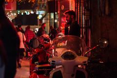 on the phone (bmakaraci) Tags: street people night canon turkey person 50mm istanbul burakmakaraci