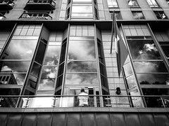 father and son (Yiannis Yiasaris) Tags: city people blackandwhite monochrome streetphotography australia melbourne pancake 16mm ultrawideangle a6000