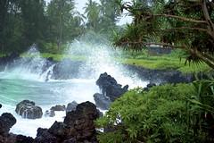 DSC2232 Malama Keanae,Maui. (najeebmahmud) Tags: ocean trees sea beach water landscape hawaii seaside nikon rocks maui shore keanae 2470mm lavarocks malama seawaves d810 nikond810 nikkor2470mm