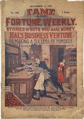 Robbery dime novel cover (steammanofthewest) Tags: retail robbery capitalism 1921 fameandfortune dimenovel boyhero