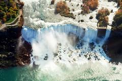 American Falls (PEEJ0E) Tags: world park new york bridge ontario canada river wonder island waterfall rainbow crossing united border goat canadian niagara helicopter american horseshoe states bridal mighty