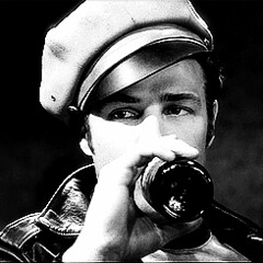 Animated GIF - Find & Share on GIPHY (messiole) Tags: wild white black beer one movies animated brando marlon ifttt giphy