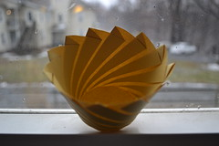 Noodle Container (oschene) Tags: circle spiral origami cone tomokofuse junmaekawa
