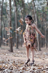 Enjoy (-clicking-) Tags: portrait fall smile leaves childhood children jump faces innocent vietnam falling enjoy innocence enjoying childish visage childlike vietnamesechildren