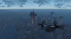 Fallout4 - Vertibird fly-by (tend2it) Tags: city game pc screenshot 4 nuclear xbox rpg future apocalyptic flyby fallout injector postprocessing ps4 vertibird reshade fallout4 screenarchery