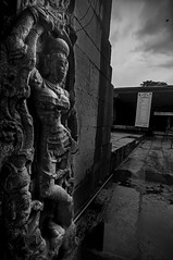 Mahalakshmi or Durga at Bhoga Nandishwara, Karnataka (Anoop Negi) Tags: sculpture india white black monochrome fashion standing pose temple photography photo breasts lakshmi bangalore hills clothes nandi karnataka anoop bnw durga negi mahalakshmi bengaluru ezee123 bhoginandishwara