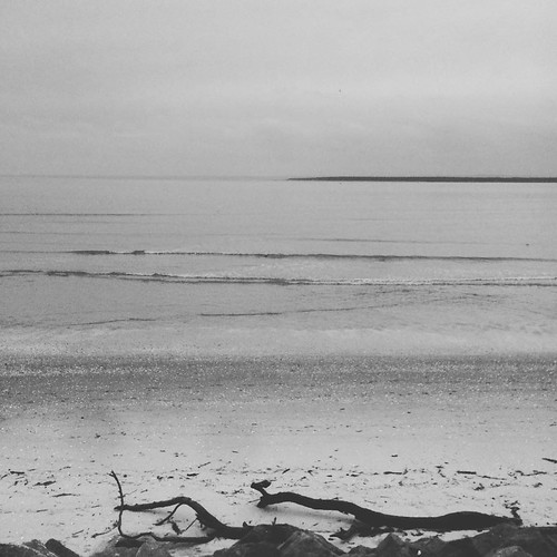 An overcast Monifieth beach