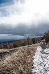 a Snowy Road (Lorenzo Sedita) Tags: road cloud snow trekking nikon track ngc sicily etna sicilia schiena percorso dellasino siciliaunesco
