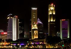 Singapore Towers (Meredith Lewis) Tags: building tower night skyscraper buildings dark singapore asia skyscrapers towers newyear clocktower sg padang uobplaza singaporeisland bankofchinabuilding downtowncore maybanktower singaporecricketclub onerafflesplace ocbccentre 6batteryroad pulauujong