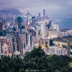 hong kong harbour view (Tu_images) Tags: china city travel urban panorama skyline night skyscraper asian hongkong evening harbor asia cityscape skyscrapers harbour chinese landmark victoria panoramic hong kong housing urbanity