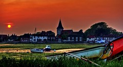 An English village and a Saxon Church at Dusk (Barry.Turner.Photography) Tags: sunset sea england sky panorama seascape west english history water landscape boats sussex bosham king harbour britain outdoor sony united great nation sigma kingdom harold tags beta edward add barry yachts alpha turner ecclesiastical bayeux saxon chronicle tapestry chichester moorings lightroom the anglosaxon canute confessor 18250 65a godwinson