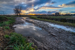 DSC_1721_2_3_4_5_6_tonemapped (The Real Luke Skywalker) Tags: sunset italy clouds landscape puddle high nikon italia dynamic tokina pools landschaft range hdr 2016 masate 1116mm d3100