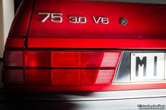 Alfa Romeo 75 3.0 V6 (Matteo Scardino) Tags: red verde 30 alfa romeo 75 alfaromeo rosso v6 qv arese quadrifoglio quadrifoglioverde museoalfaromeo museostoricoalfaromeo 30v6 milanomuseo