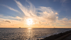 Sunset Dutch Coast (tribsa2) Tags: sunset sea sky seascape netherlands coast seaside zonsondergang nederland noordzee zee ciel northsea cielo nubes nuage nuages nordsee nube merdunord coucherdusoleil zeegezicht noordpier canonef24105mmf4lisusm canoneos5dmarkii canonnl