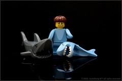 #LEGO #Minifigure15 #Shark_Suit_Guy # # ((ArchiDong-Ie)) Tags: lego sharksuitguy  minifigure15