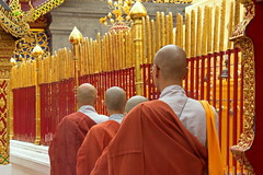 Wat Phrathat Doi Suthep (asitrac) Tags: travel thailand asia southeastasia buddhism chiangmai siam doisuthep th buddhistmonk chiangmaiprovince watphrathatdoisuthep theravada  saffronrobe bhikkhus philosophyreligions lannastylewat