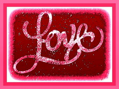 bubblegum love (milomingo) Tags: pink red white texture love word bright maroon text border humor salmon vivid valentine frame written script conceptual photoart trippin fleck bold letstalkaboutlove a~i~a