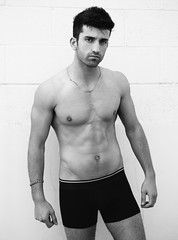 Photo Shoot : Marcel (jkc.photos) Tags: shirtless blackandwhite man male model photoshoot outdoor muscle handsome physique
