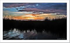 Agua, tierra y cielo (Lourdes S.C.) Tags: espaa contraluz atardecer agua cielo nubes puestadesol laguna anochecer nwn laalbufera provinciadevalencia